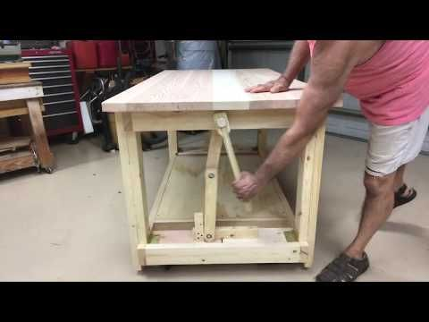 Workbench Retractable Wheels Casters No Talk Just Action