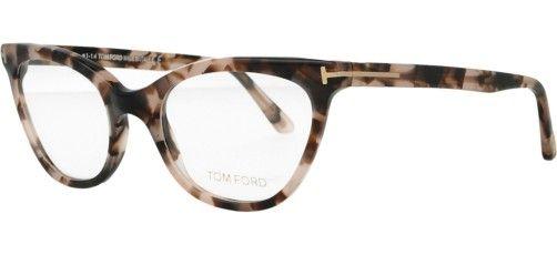 Occhiali da vista Tom Ford - Modello 5271 - Forma: Gatto - Genere: Donna - Materiale: Acetato - Colore: Tartarugato Rosa - Calibro: 49
