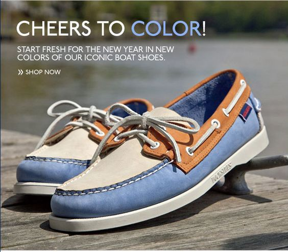 Sebago - Start The New Year With New Colors Of Our Iconic Boat Shoes