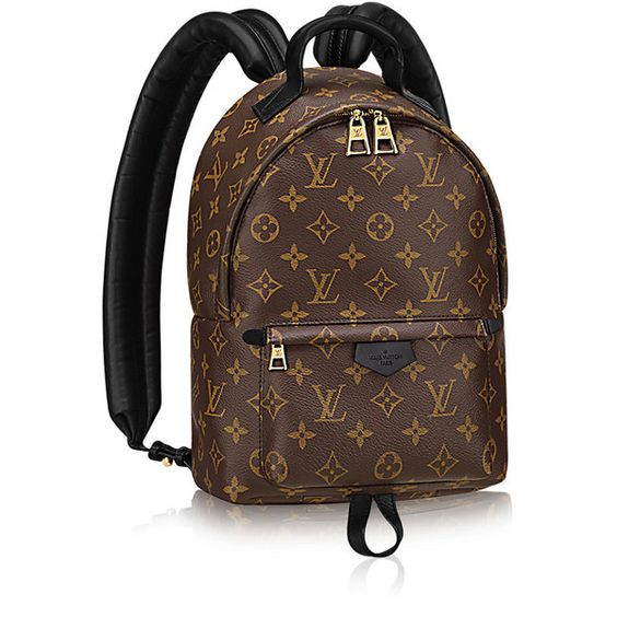 Palm Springs Backpack PM (8.340 BRL) ❤ liked on Polyvore featuring bags, backpacks, palm tree backpack, knapsack bags, brown canvas backpack, monogrammed backpacks and canvas zip bag