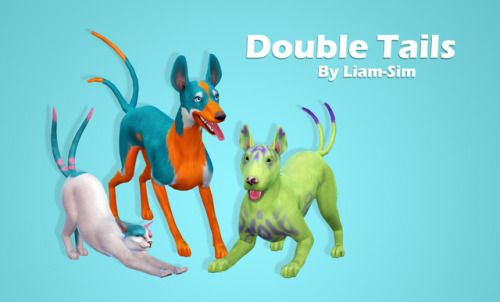 Double Tails By Liam Sim Via Mediafire Pets Assesoires Cats Dogs Sims 4 Ts4 Maxis Match Mm Cc Pin By Sueladysi Sims 4 Sims 4 Pets Sims Pets