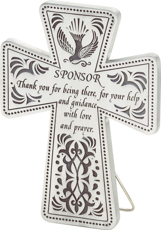 What a great gift idea for a Confirmation sponsor! A cross with a - sponsorship thank you letter