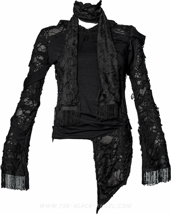 Knitting Women Heart Of Darkness : Gothic shirt with mesh and holes from the women s line of