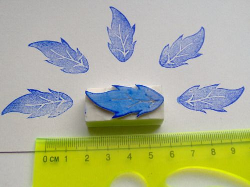 Leaf hand carved stamp rubber stamp diy gift wrapping summer... #wedding #weddings