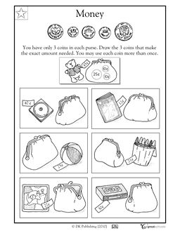 Our 5 favorite preK math worksheets | Worksheets, Coins and Coin ...