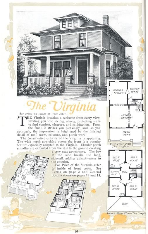 American foursquare aladdin virginia from the 1919 for American kit homes