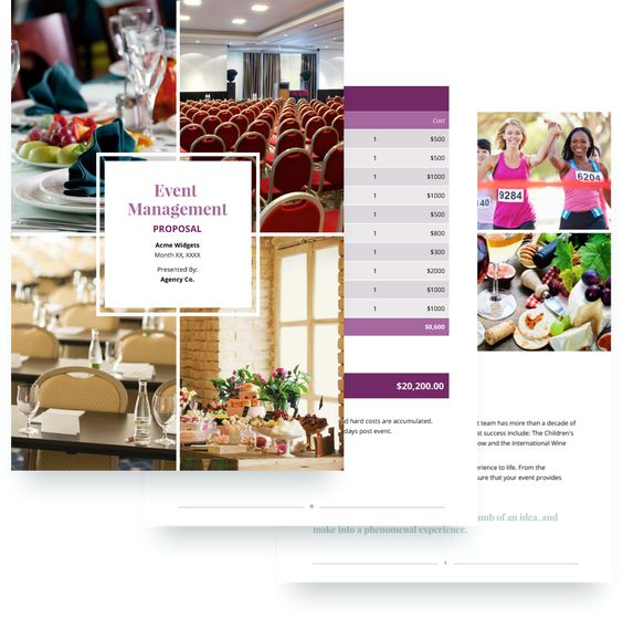 Event Planning Proposal Template Event Proposal Template