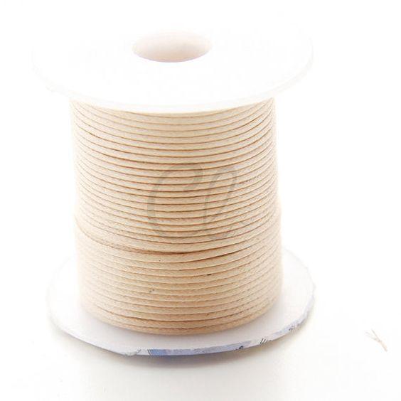 Round Wax Cotton Cord - Natural