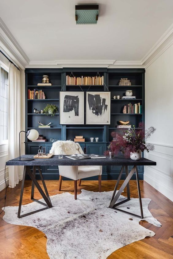 28 Dreamy Home Offices With Libraries For Creative Inspiration Modern Home Offices Contemporary Home Offices Contemporary Home Office