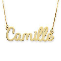 Monogrammed 10k Solid Gold Personalized Name Necklace Fine Jewelry Custom Gifts