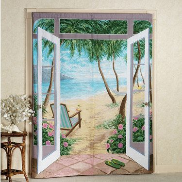 Island Breeze Trompe l'oeil Window Art  I am thinking I want this for my bedroom window !!