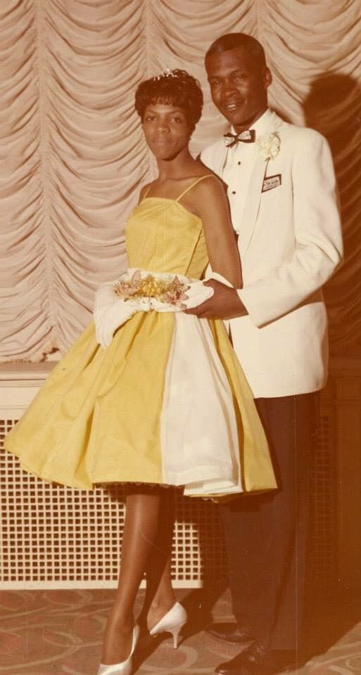 My mom and dad on their Senior Prom 1963 Simon Gratz High School. Source: Ant Morse: Vintage African American Photography Facebook Page