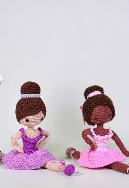 Boneca de crochê: +40 ideias com amigurumi fantásticas ... | 640x440