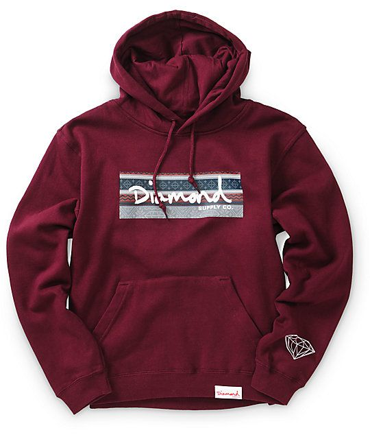 A great hoodie on any chilly night is a must have and this Diamond Supply pullover will do the trick.
