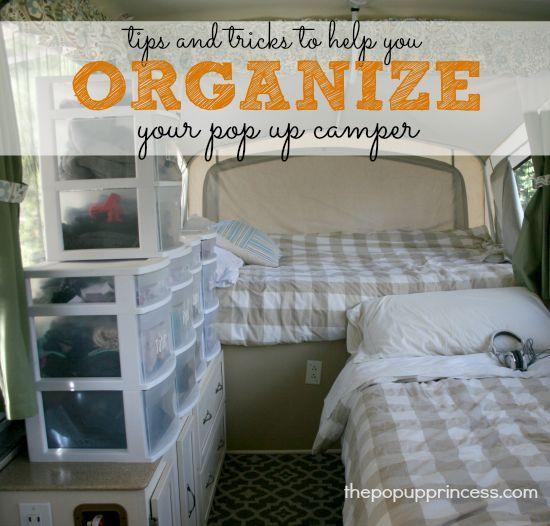 How We Organize Our Pop Up Camper Campers Pop Up Camper