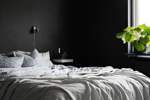 The black bedroom