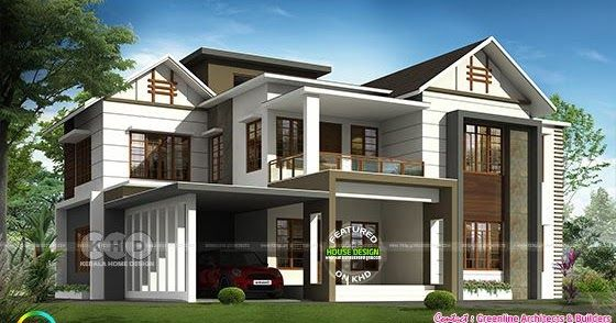 3175 Square Feet 4 Bedroom Modern Home Architecture Two Bedroom