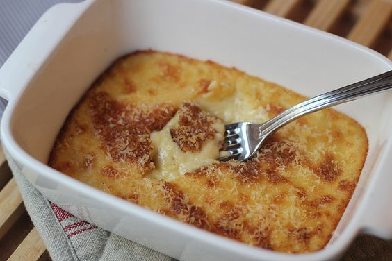 receita de polenta cremosa gratinada perfeita com queijo