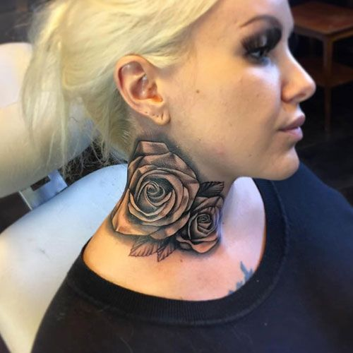 Neck Tattoos For Women Neck Tattoos Women Girl Neck Tattoos Neck Tattoo