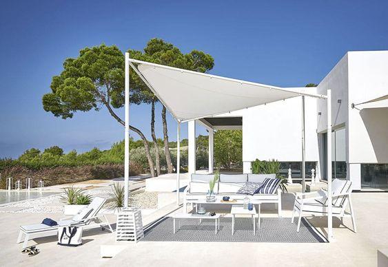 Bain De Soleil En Aluminium Avec Matelas Blanc Maisons Du Monde En 2020 Tonnelle Jardin Canape Jardin Jardin Maison