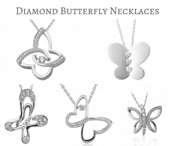 Diamond Butterfly Necklaces
