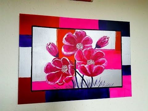 How To Paint Flowers In Acrylic For Beginners Acrylic Beginners
