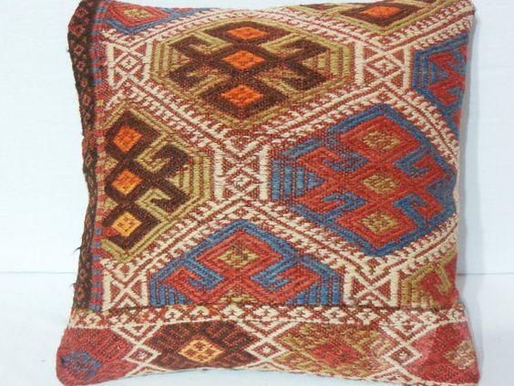 40 Y.OLD Organic Modern Bohemian Turkish  kilim rug by DECOLIC, $48.00