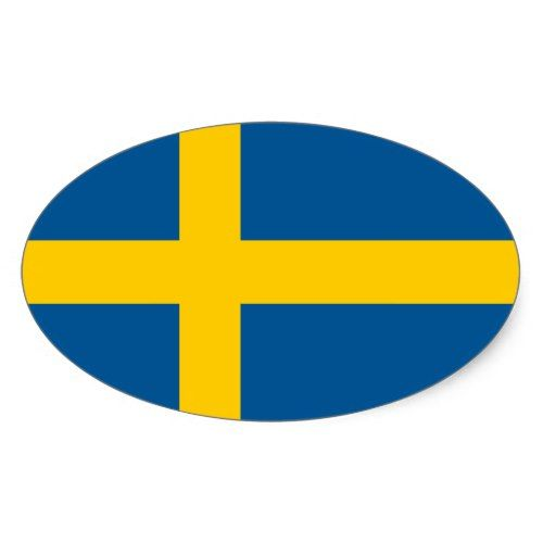 Sweden S Flag Oval Sticker Zazzle Com Sticker Flag Sweden Flag Swedish Flag