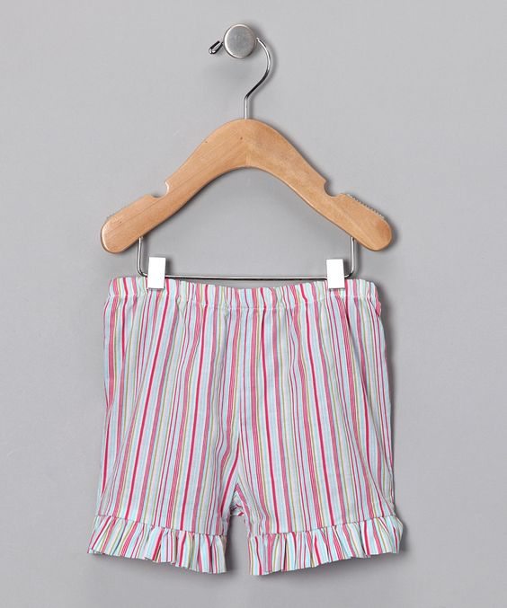 Pink Stripe Ruffle Shorts - Infant, Toddler & Girls//