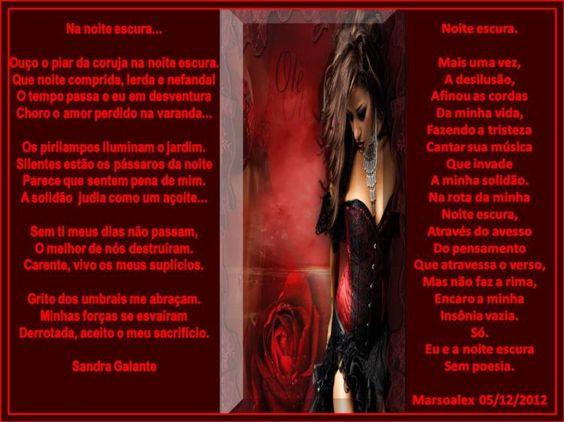 Dueto:Noite escura Sandra Galante e Marsoalex. - Encontro de Poetas e Amigos