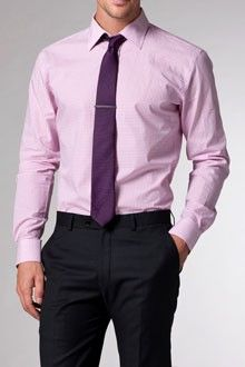 Pink Shirt With Tie
