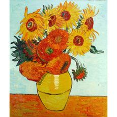 Hand Painted Sunflowers, c.1889 by Vincent Van Gogh Oil Painting