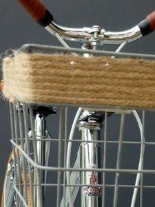 diy update metal bike basket | DIY: twine around metal bicycle basket!