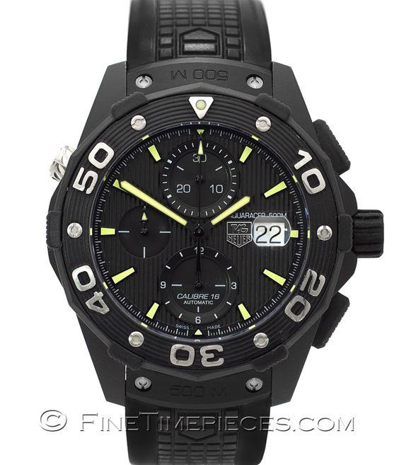 #TAG_HEUER   #Aquaracer Chronograph 500 M Titan PVD Calibre 16   Ref. CAJ2180.FT6023