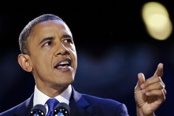 President Obama speaks at an election night party after defeating Gov Romney.