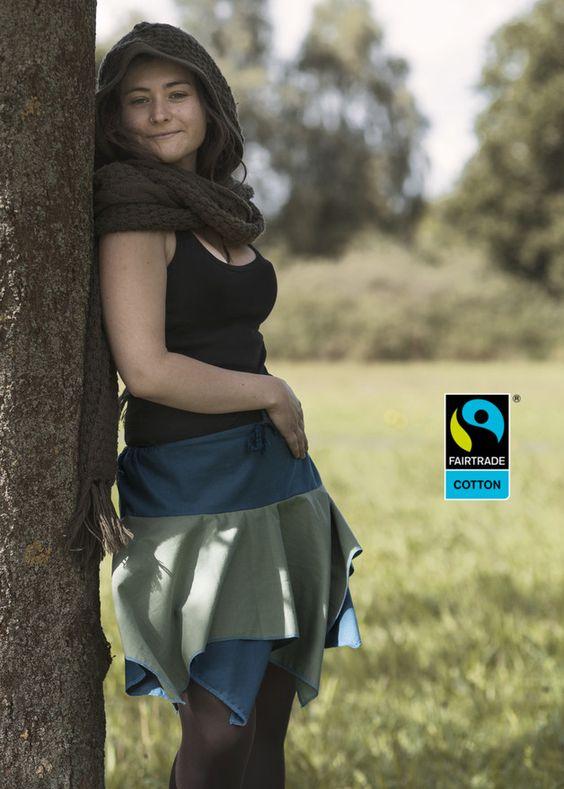 Röcke - Fairtrade Zipfelrock in Petrol und Moos, fair bio - ein Designerstück von FairTale bei DaWanda