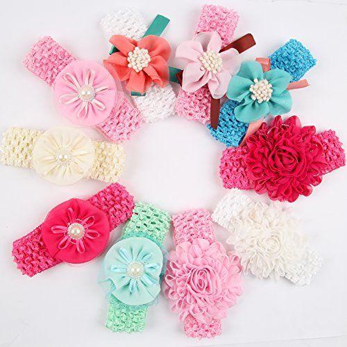 ROEWELL® Baby Headbands /Girl's Hair Bows/ Infant Headband/Hairband(10 Pcs)