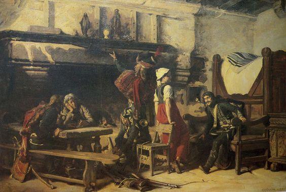 Charles-Alexandre Coëssin de la Fosse — Scène de pacification de la Vendée en 1795 - 9e hussard, (1882)   Wikipédia