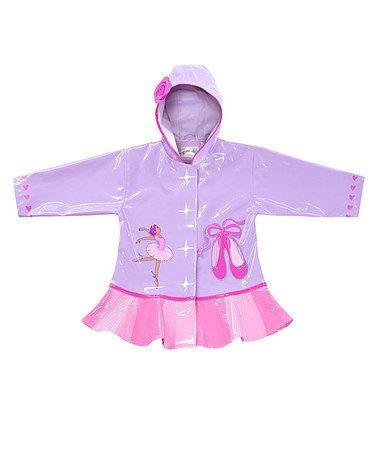 Orchid & Pink Ballerina Raincoat - Infant, Toddler & Girls #zulily #zulilyfinds