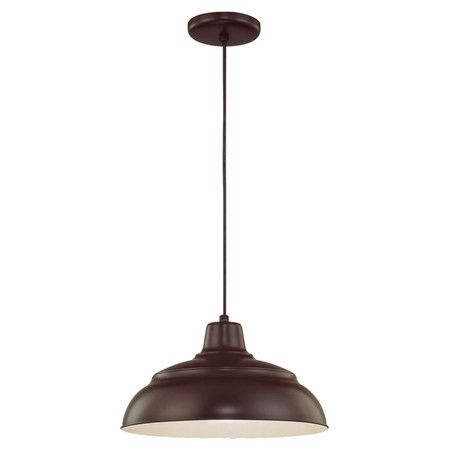 This industrial-inspired mini pendant brings handsome style to your foyer or dining room.  Product: PendantConstruction M...