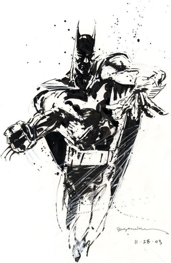 Batman Sketch by Bill Sienkiewicz