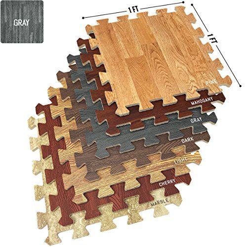 Sorbus Wood Floor Mats Foam Interlocking Wood Mats Each T Https Www Amazon Com Dp B077nlsf5b Ref C Home Gym Flooring Interlocking Flooring Wood Grain Tile