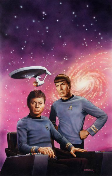 "Original Comic Art:Covers, Kieth Birdsong Star Trek #50 ""Doctor's Orders"" PaperbackNovel Cover Painting Original Art (Pocket Books, 1990)....:"