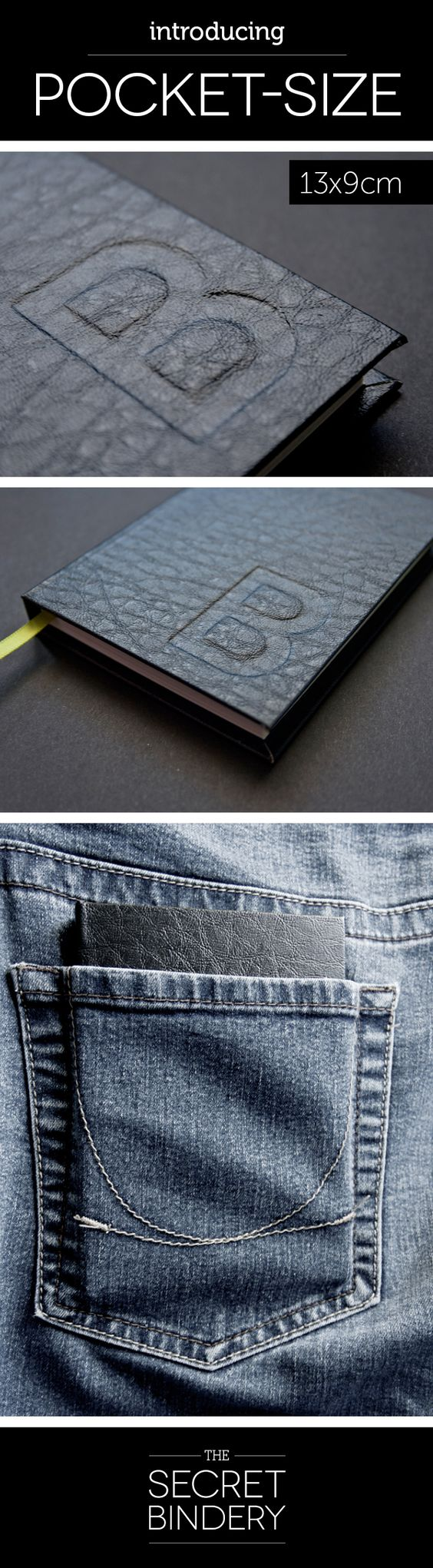 The all new hand-embossed, pocket-size journal by The Secret Bindery http://www.facebook.com/thesecretbindery
