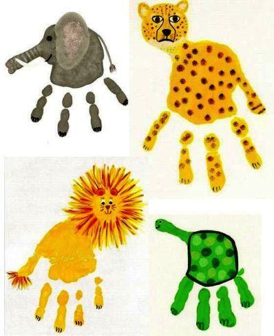 empreintes de la jungle 8 Easy Hand and Foot Print Crafts For Kids