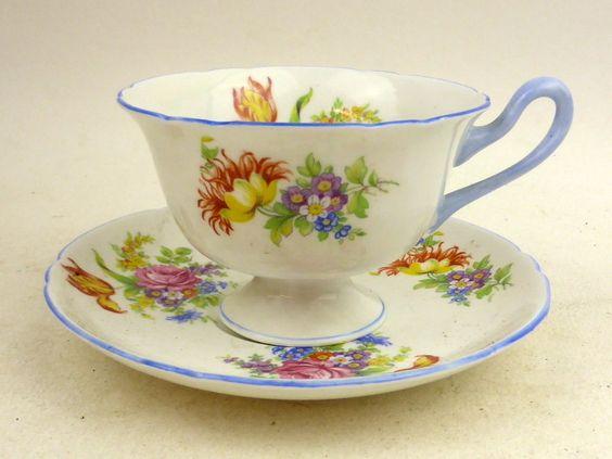 vintage Shelley china l tea cup & saucer