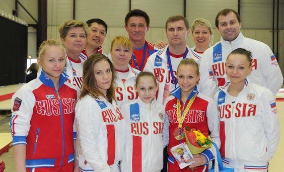 Russische Turn-Nationalmannschaft auf der jüngsten EM in Montpellier