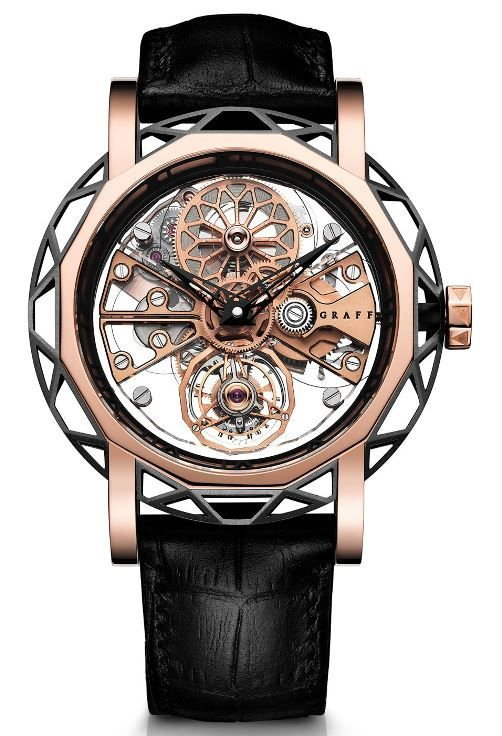 Graff Structural Tourbillon Skeleton Automatic 46mm Ref. MGSTA46DLCPG