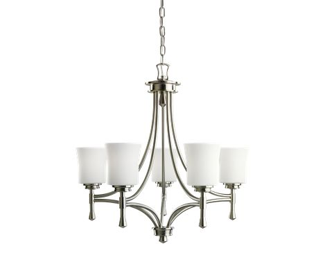 5 light Chandelier in Brushed Nickel - Wharton Collection - Kichler Lighting - pendant, ceiling, landscape light fixtures & more