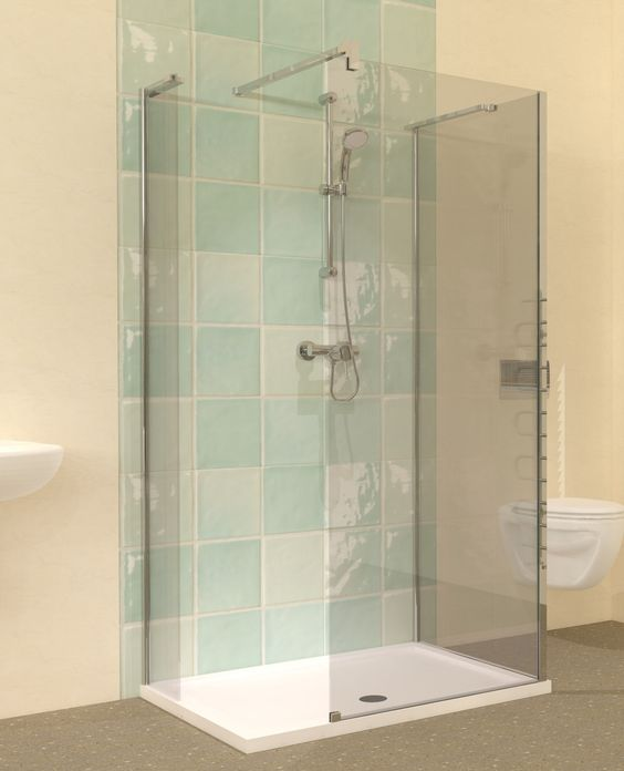 Home shower enclosure and compact on pinterest for Small baths 1100